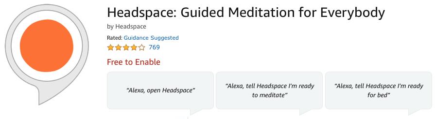 headspace alexa skill