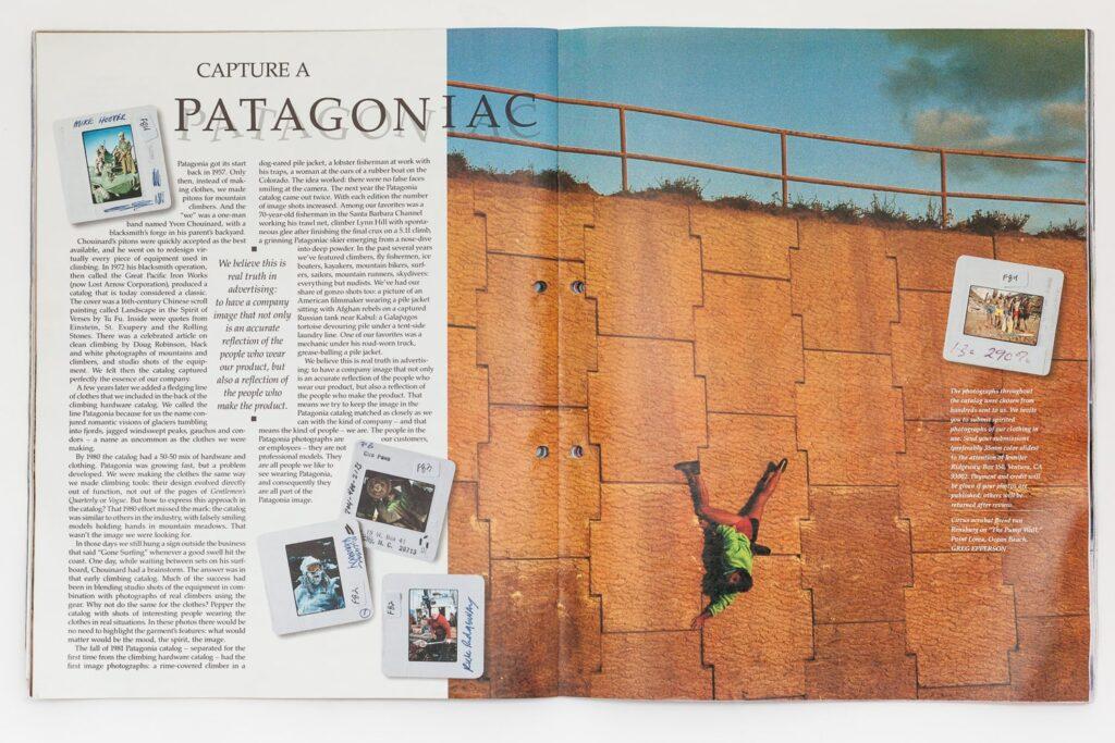 patagonia print catalogue climber